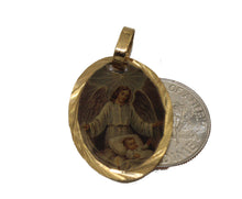 Guardian Angel Medal - Angel de la Guarda Medal 14k Gold Plated With 18 Chain