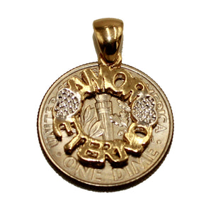 Amor Eterno Pendant 18k Gold Plated with 20 inch Chain