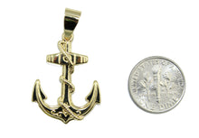 Anchor with Ropes 18k Gold Plated Pendant with 22 inch Chain - Sailor Pendant