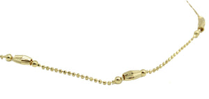 Ball Charm Anklet 18K Gold Plated 10 inch - Ball Anklet 18k Gold Plated 10 inch