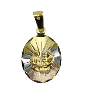 Baptism Medal 18k Gold Plated with 20 inch Chain - Bautizo Medalla