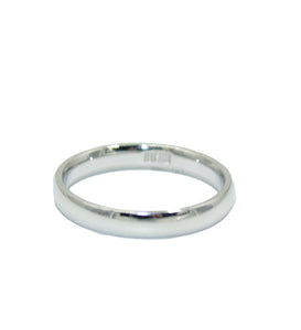 Comfort Fit Ring Band 10k White Gold Ring - Woman & Men Wedding 10k White Gold