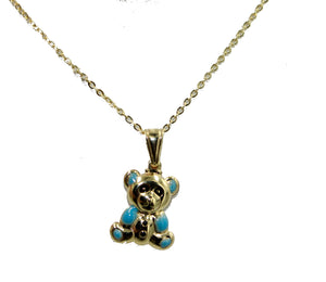 Bear Charm Inspired Pendant 18k Gold Plated with 18 inch Chain - Bear Necklace