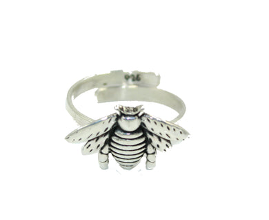 Bee .925 Sterling Silver Adjustable Ring- Bee Sterling Silver Adjustable Ring