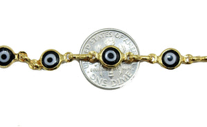 Evil Eye Necklace 18k Gold Plated Necklace - Evil Eye BlackNecklace