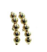 Ball Stud Earring 18k Gold Plated Ear Crawler - Ball Ear Crawler 18k Gold Plated