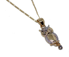 Owl 18k Gold Plated Charm Pendant with 20 inch Chain
