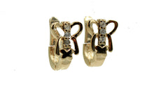 Butterfly CZ Huggies Earrings 18k Gold Plated Earrings - Butterfly Hoops