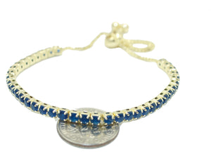 Cubic Zirconia Adjustable Bracelet 18k Gold Plated Bracelet Chain - CZ Bracelet