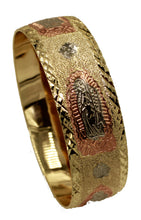 Virgen de Guadalupe Bracelet 18k Gold Plated Bangle 2 1/2 inch  Bangle