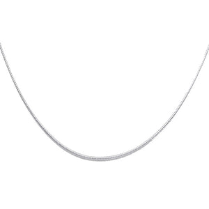 Braided Omega 14k White Gold 17 inch - Omega 1mm 14k White Gold