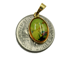 Baptism Medal - Baptism Medal 18k Gold Plated Medal with 18 Inch Chain