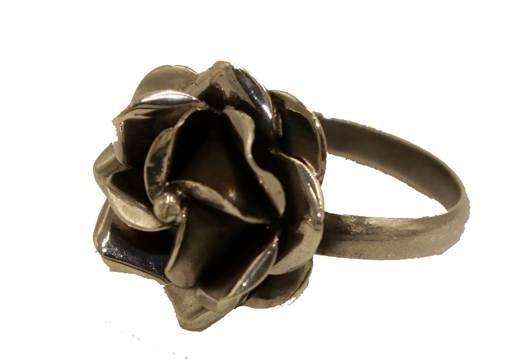 Mexican Taxco Rose Rings .925 Sterling Silver - Rose Ring .925 Sterling Silver