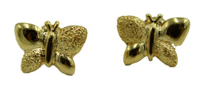 Butterfly Stud Earrings 18k Gold Plated Earrings - Butterfly Earrings