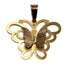 Butterfly 18k Gold Plated Drop Pendant with 20 inch Chain - Mariposa Pendant