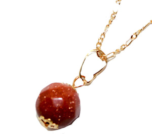 Venturina 12mm Ball Necklace with 20 inch Chain - Venturina Necklace
