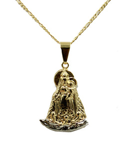 Caridad del Cobre y Juanes Yoruba Pendant 18k Gold Plated with 20 inch Chain