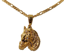 Horse Charm Pendant 18K Gold Plated with 24 inch Chain - Horse Necklace