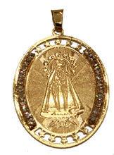 Caridad del Cobre Yoruba Medal 18k Gold Plated with 20 inch Chain con Cadena