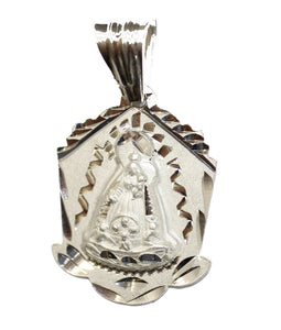 Virgen de la Caridad del Cobre y los Tres Juanes .925 Sterling Silver Pendant - Our Lady of Charity
