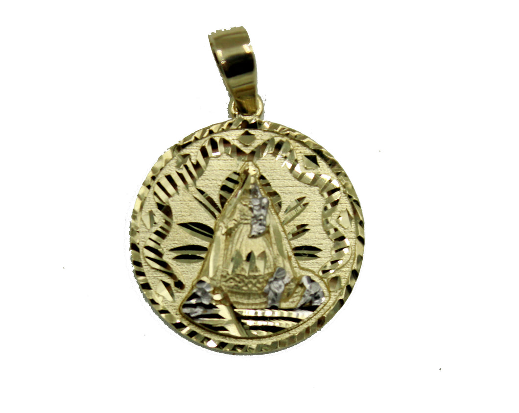 Caridad del Cobre 14k Yellow Gold Pendant - Our Lady of Charity