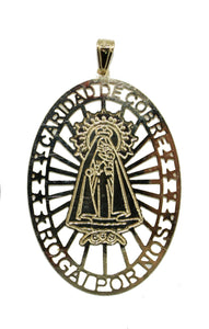Caridad del Cobre 18k Gold Plated Medal with 20 inch Chain - Yoruba Medal