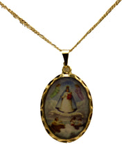 Virgen de la Caridad del Cobre 18K Gold Plated with 20 inch Chain