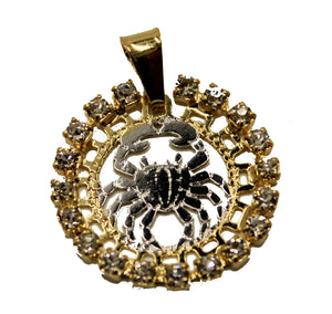 Cancer Charm Pendant 18k Gold Plated with 20 inch Chain