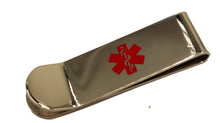 Caduceus Medical Alert Symbol Money Clip Stainless Steel