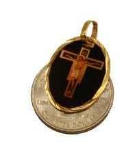 Christ on the Cross Medal Pendant 14k Gold Plated Medal with 18 Inch Chain