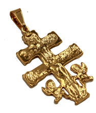 Caravaca Cross Pendant 18k Gold Plated with 22 inch Chain - Caravaca Necklace