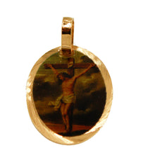 Crucifix Medal - Christ on the Cross Medal 14k Gold Plated Medal with 18 Chain