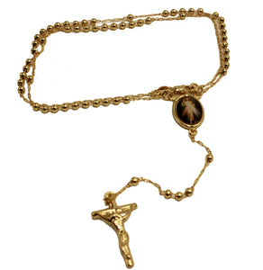 Cristo Misericordioso Rosary 18k Gold Plated 18 inch - Merciful Christ Rosary
