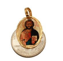Jesus Christ Medal 14k Gold Plated Medal with Chain - Christ Medal Necklace