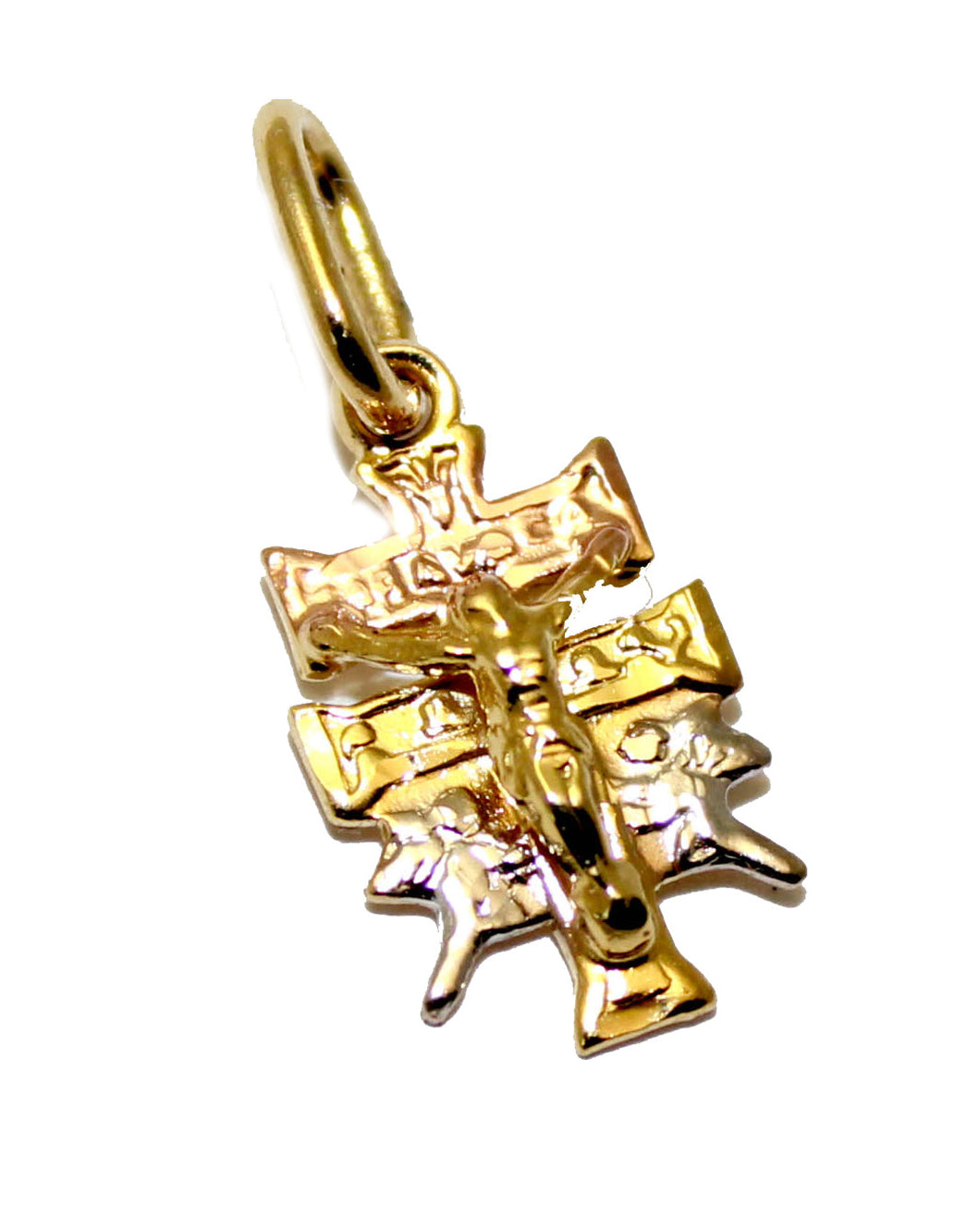 Caravaca Cross Mini Pendant 18k Gold Plated with 18 inch Chain