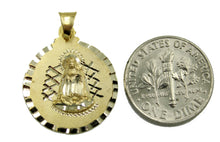 Our lady of Charity 14k Yellow Gold Medal - Virgen De La Caridad del Cobre