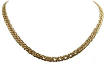 Curb Flat Link 7mm 20 inch Chain 18k Gold Plated - Curb Link Chocker Chain