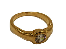 CZ Round Solitaire Wedding Ring 18k Gold Plated Ring - Fashion CZ Ring