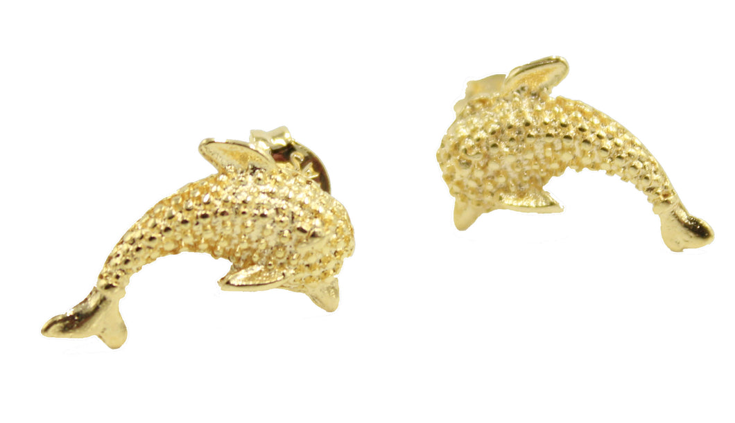 Dolphin Stud Earrings 18k Gold Plated - Dolphin Stud Earrings 18k Gold Plated