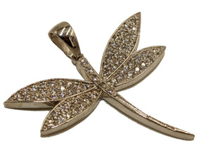 Dragonfly with CZ .925 Sterling Silver Pendant - Dragonfly CZ Charm