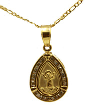 Divino Niño Drop Pendant with 20 inch Chain 18k Gold Plated - Christ Child Charm