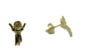 Divino Niño Studs 18k Gold Plated Earrings - Christ Child Stud Earrings