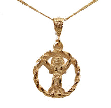 Divino Niño Pendant with 20 inch Chain 18k Gold Plated - Child Christ Medal