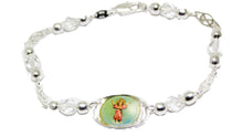 Divino Niño Silver Plated 7 inch Bracelet - Child Christ Silver Plated Bracelet