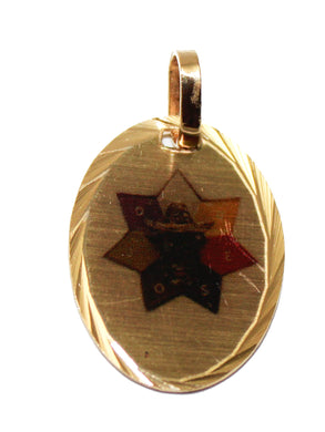 Estrella de Jose Medalla - Jose Star Medal 14k Gold Plated with 18 Inch