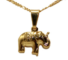 Elephant Pendant 18k Gold Plated Pendant with 20 Inch Chain - Elephant Necklace