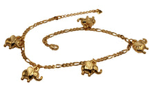 Elephant Charm Anklet 18k Gold Plated Feet Jewelry -Tobillera Enchapada