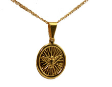 Holy Spirit Dove 18k Gold Plated Pendant with 20 inch Chain - Holy Spirit Medal