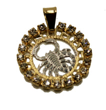 Escorpion Charm Pendant 18k Gold Plated with 20 inch Chain - Escorpion Zodiac Horoscope Necklace