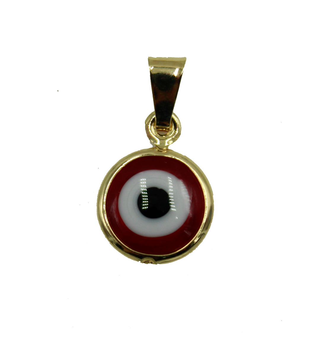 Evil Eye Necklace 18k Gold Plated - Evil Eye RedPendant with 20 inch Chain